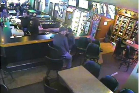 Couple kissing armed robbery