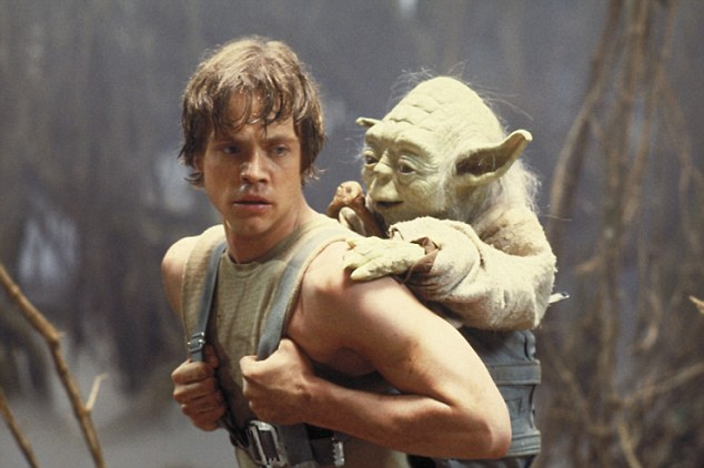 Old times: This mimics the image from the original Star Wars film from 1977 where he had Yoda on his back when training as Luke Skywalker to learn the ways of the Force The monumental start of Star Wars: Trailer of A New Hope