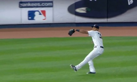 Aaron Hicks Throws 105.5 mph ball home, Sets New Record