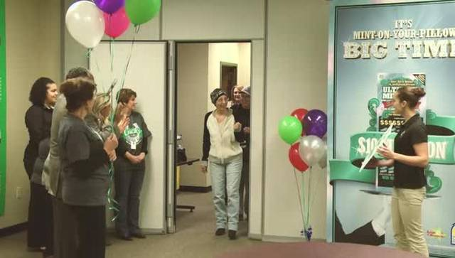 Woman Fighting Cancer Wins The Lottery T