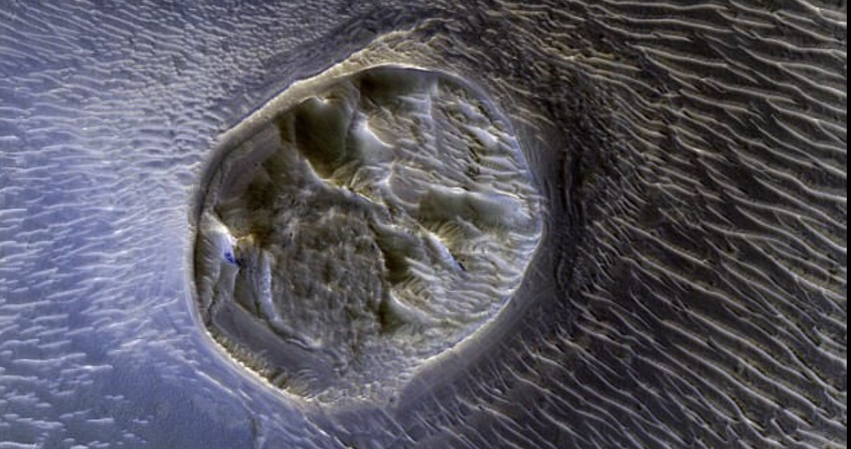 Underground alien city on Mars