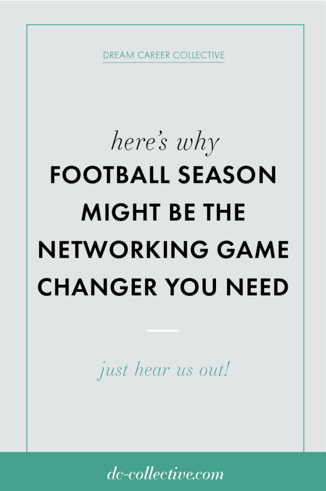 Why football season might be the networking conversation