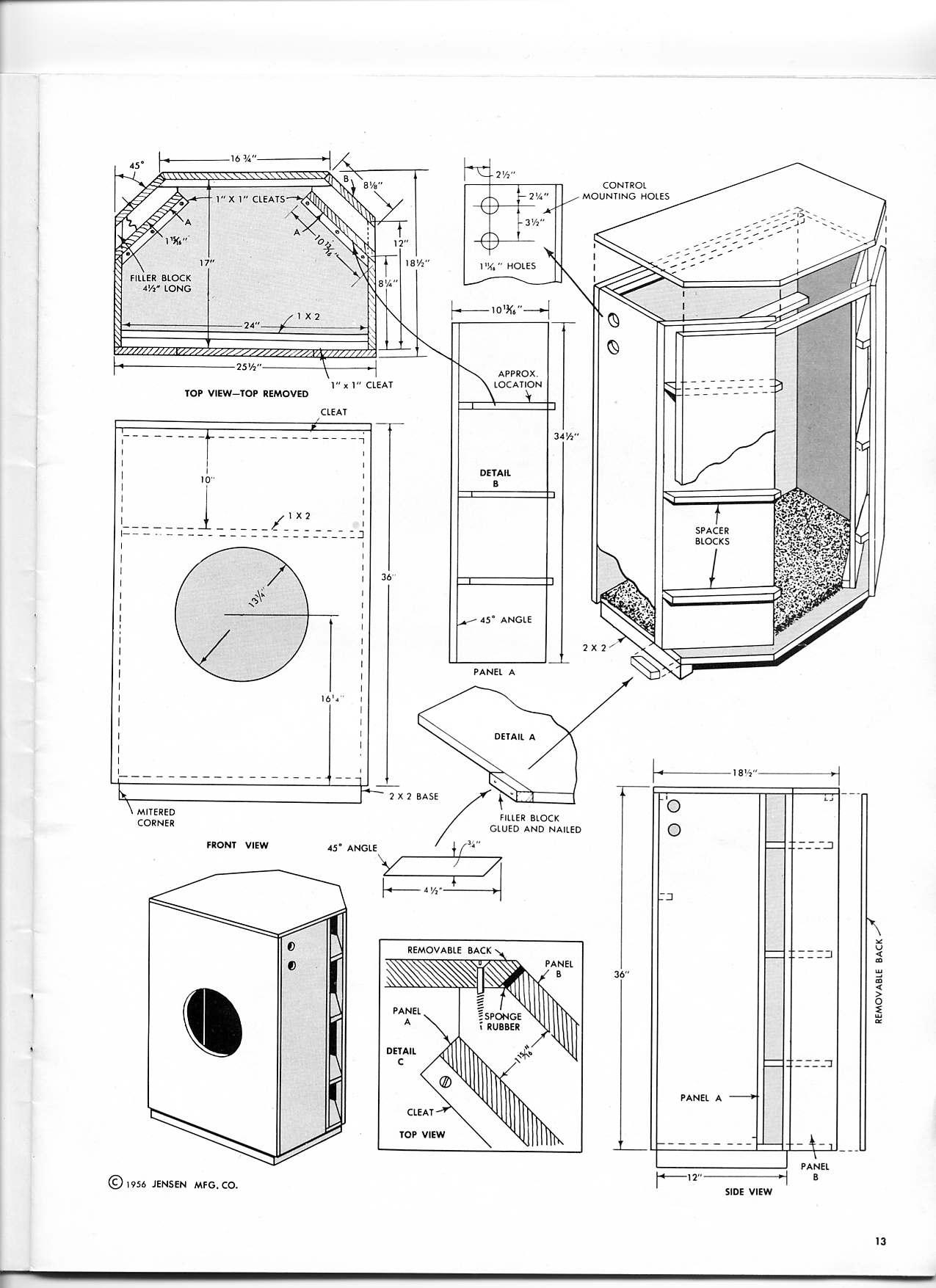 82 Bass Speaker Cabinet Design Plans