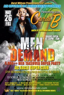Men N Demand 5,000 ++ Men Takeover  Super Party