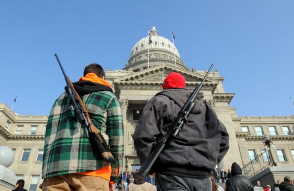 Picture from a 2nd Amendment Rally in Boise.