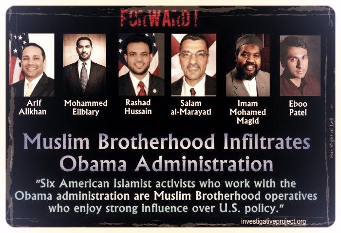 Image result for pics of brotherhood in Obama administration