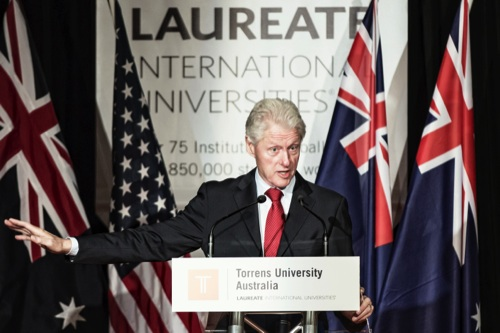 Laureate International Universities Bill Clinton