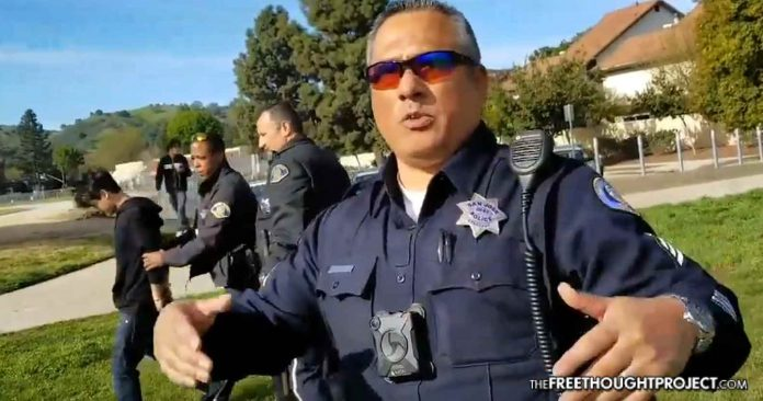 WATCH: Cops Say It is Okay to Attack a Child for Free Speech, Then Arrests a Child to Prove It