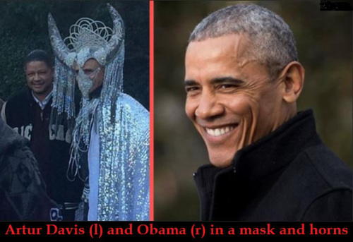 Obama dressed as Baphomet?