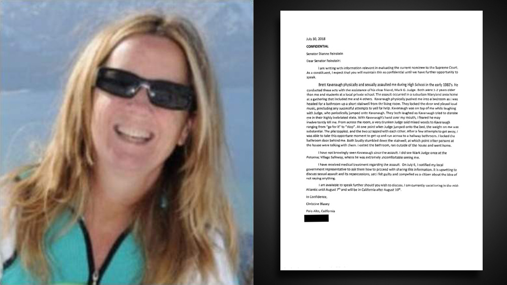 BOMBSHELL: Christine Blasey Ford's letter to Sen. Dianne Feinstein revealed to be a total FAKE… contains 14 glaring errors that could only be committed by a poorly educated writer