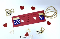 Celebrate Valentine's Day with this DIY Wonder Woman Bookmark