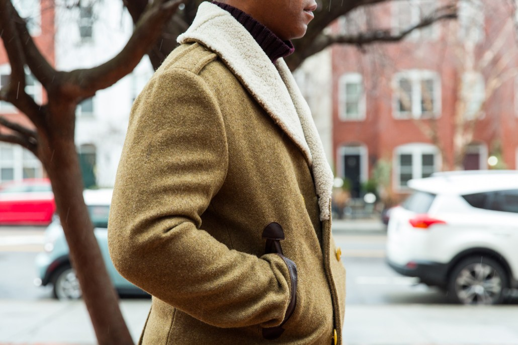 Details of the Gant Spectator Coat