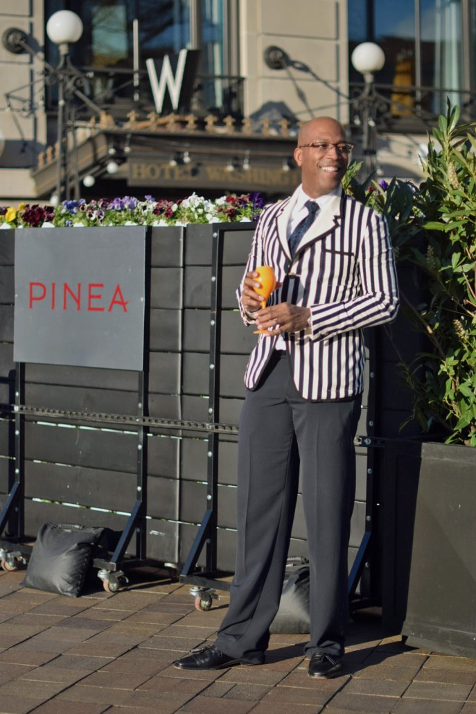 DC Mens Fashion; DCFashion Fool; Veuve Clicquot, ClicquotJourney, DC Events; PineaDC, W Hotel, Striped Blazer