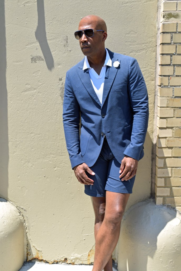 NYFWM suit with shorts -11
