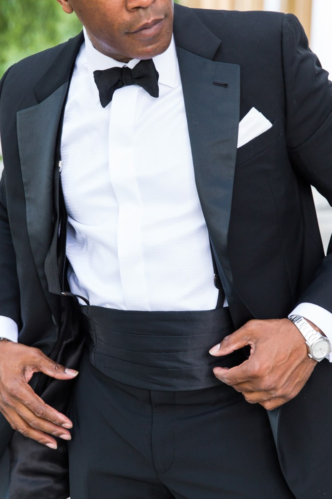 Tuxedo Formal look close up