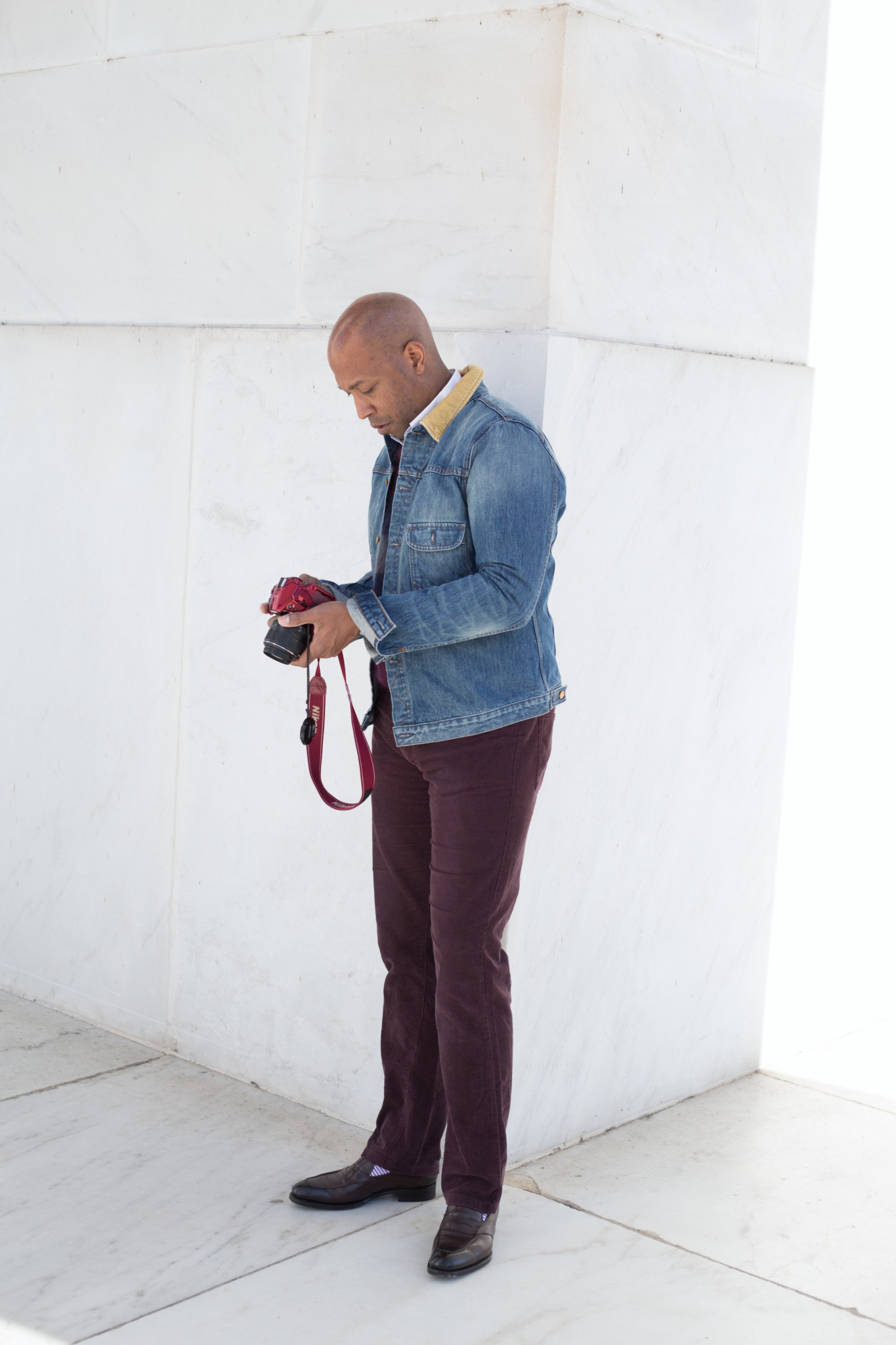 Denim and Corduroy with camera
