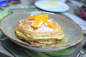 Orange Creme Pancakes - Brunch in the Yard