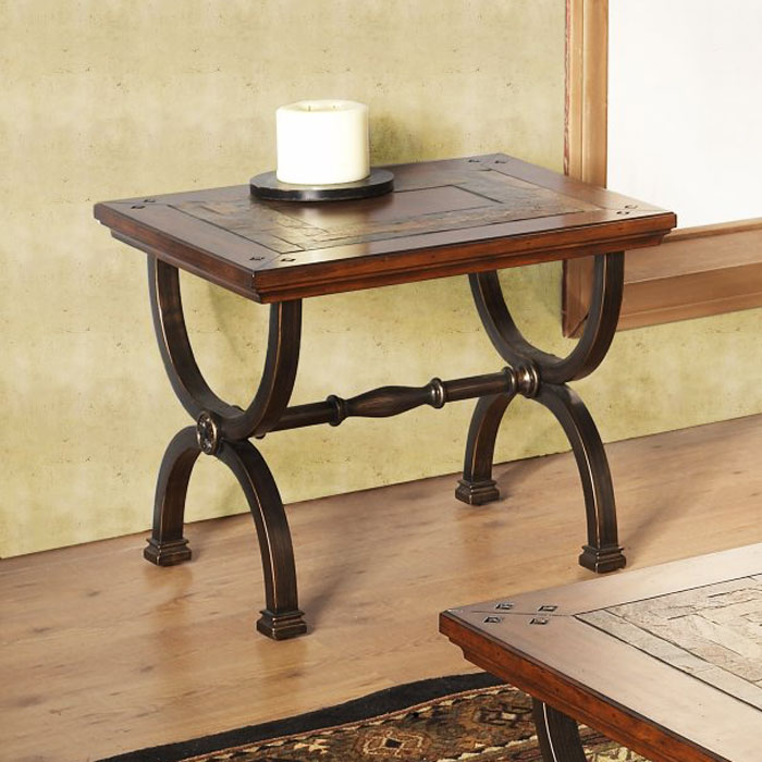 Milford End Table With Metal Legs DCG Stores