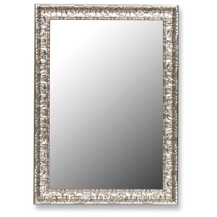 Katya Elegant Mirror With Mayan Silver Frame Made In USA