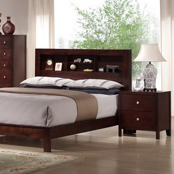 montana 5 piece queen bedroom set bookcase bed mahogany