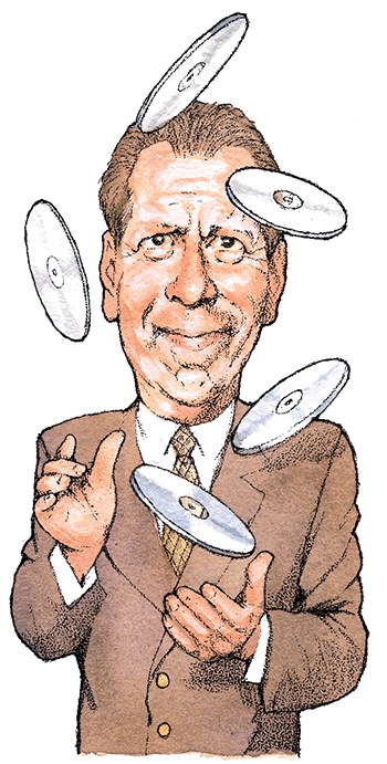 Caricature from the New York Observer, 2007