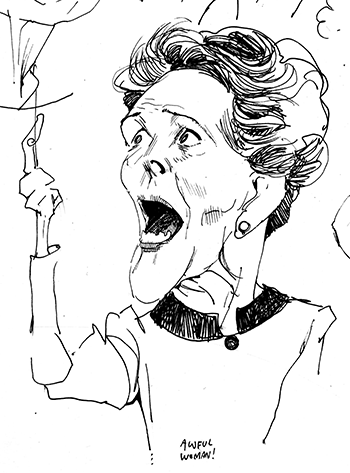 Sketchbook caricature, Mid-1980s