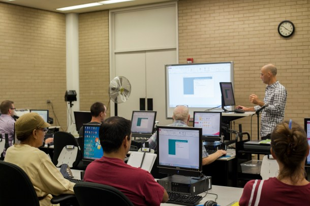 Brian Kraft, who compiled the essential Building Permits Database, walked participants through the process.