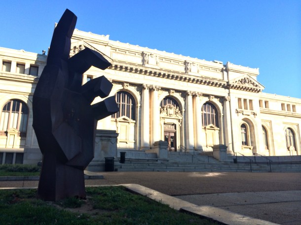 The statue currently outside the Carnegie Library was commissioned for the Poor People's Campaign in 1968. Find out more about the campaign in the current issue of Washington History!