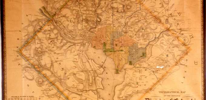 This 1862 topographical map shows the area's Civil War-era forts.