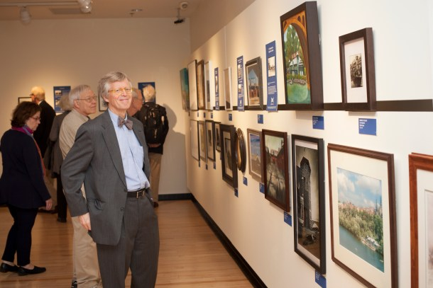 """Group visits include time in the Small-Alper Gallery, featuring the """"Window to Washington"""" exhibit, as well as the newly opened """"For the Record"""" exhibit, seen here in the Roosevelt Studio."""