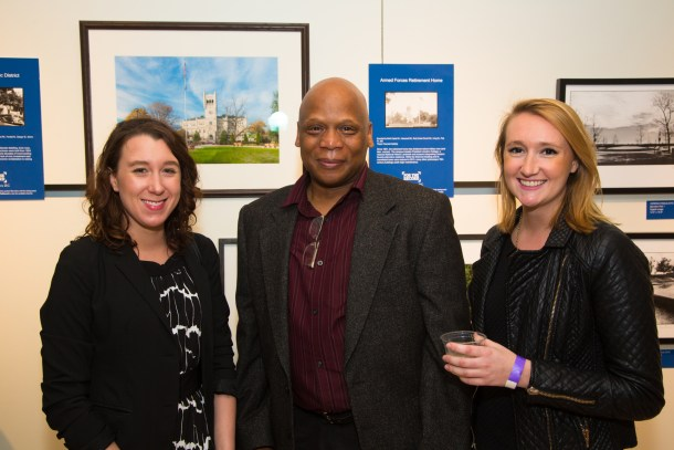 Meghan Smit and Madeline O'Loughlin  designed the exhibit layout; Henry Cross led the installation of the artworks.