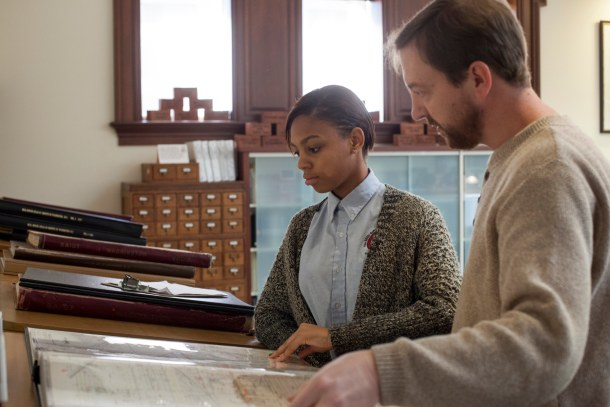 Historical Society of Washington, D.C. member and teacher Brian Rohal lent a hand during a Fall 2014 visit by the SEED students.