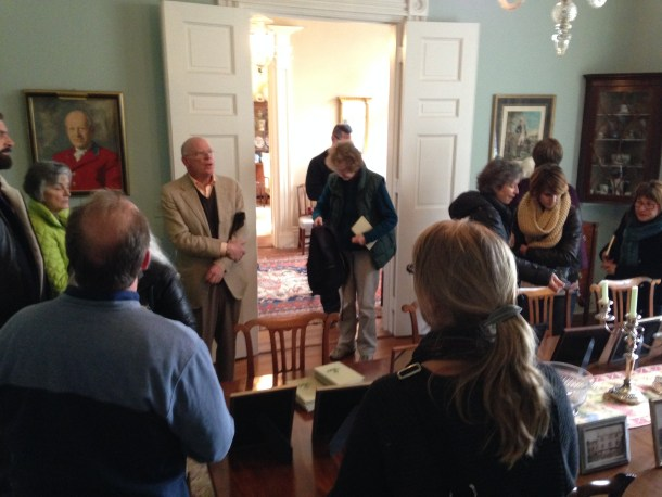 Montevideo was the home of John Parke Custis Peter in the 1830's, who grew up at Tudor Place and ran the quarry and Seneca stone mill. Now the home of the Kiplinger's, Knight shared its history with Historical Society members last fall.