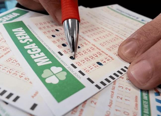 Imagem mostra aposta para loteria