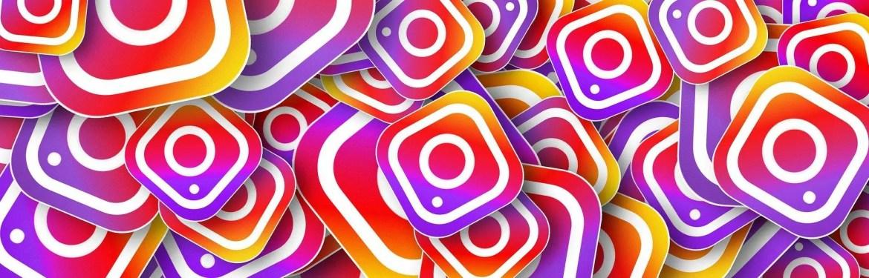 Vários logos do Instagram