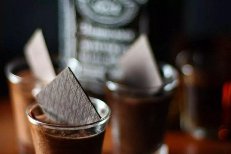Mousse de chocolate e Jack Danie