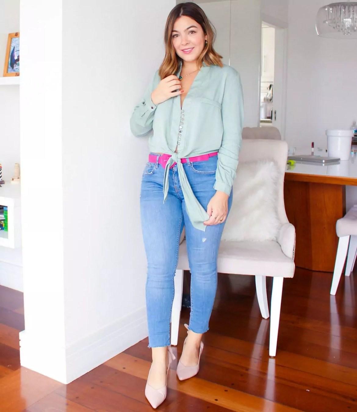 candy color com jeans