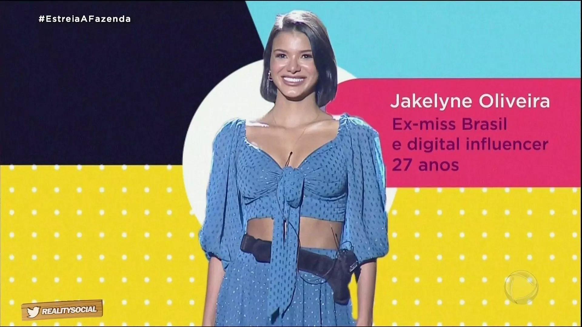 Jakelyne Oliveira em A Fazenda 2020