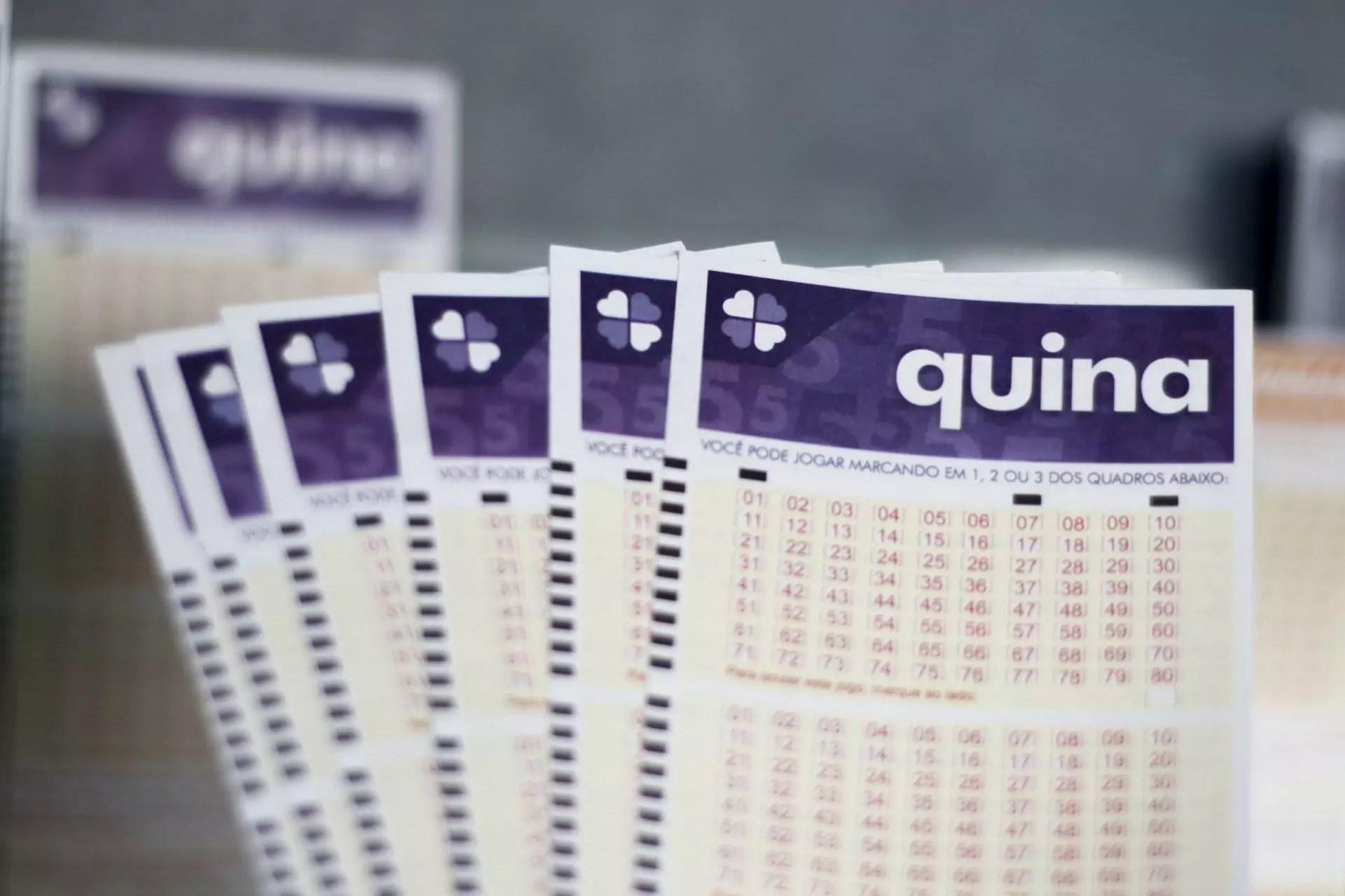 Quina 5396 - A imagem mostra um leque de volantes da Quina