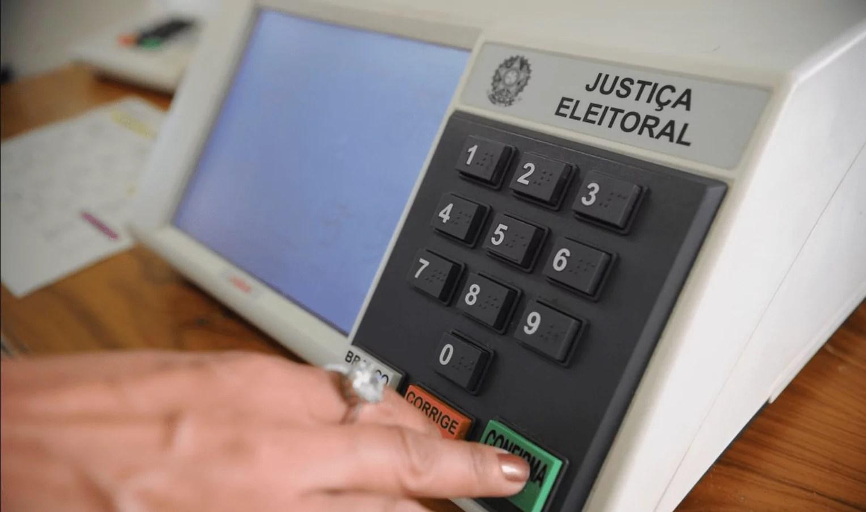 Foto mostra urna eletrônica