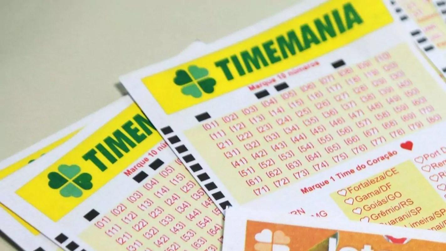 Timemania concurso 1549 - dois volantes do Timemania