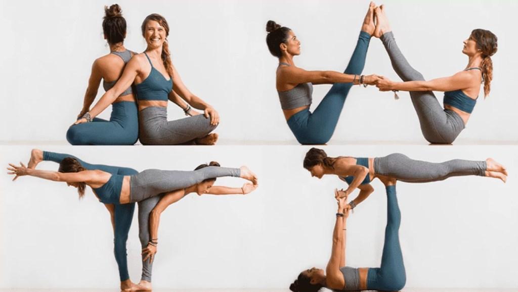 Yoga em dupla - posições
