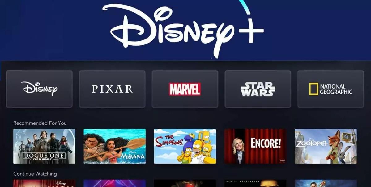 Disney+ Plus novo serviço de streaming concorrente Netflix