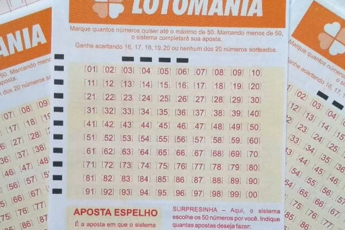 Lotomania 2128 - a imagem mostra três volantes da Lotomania