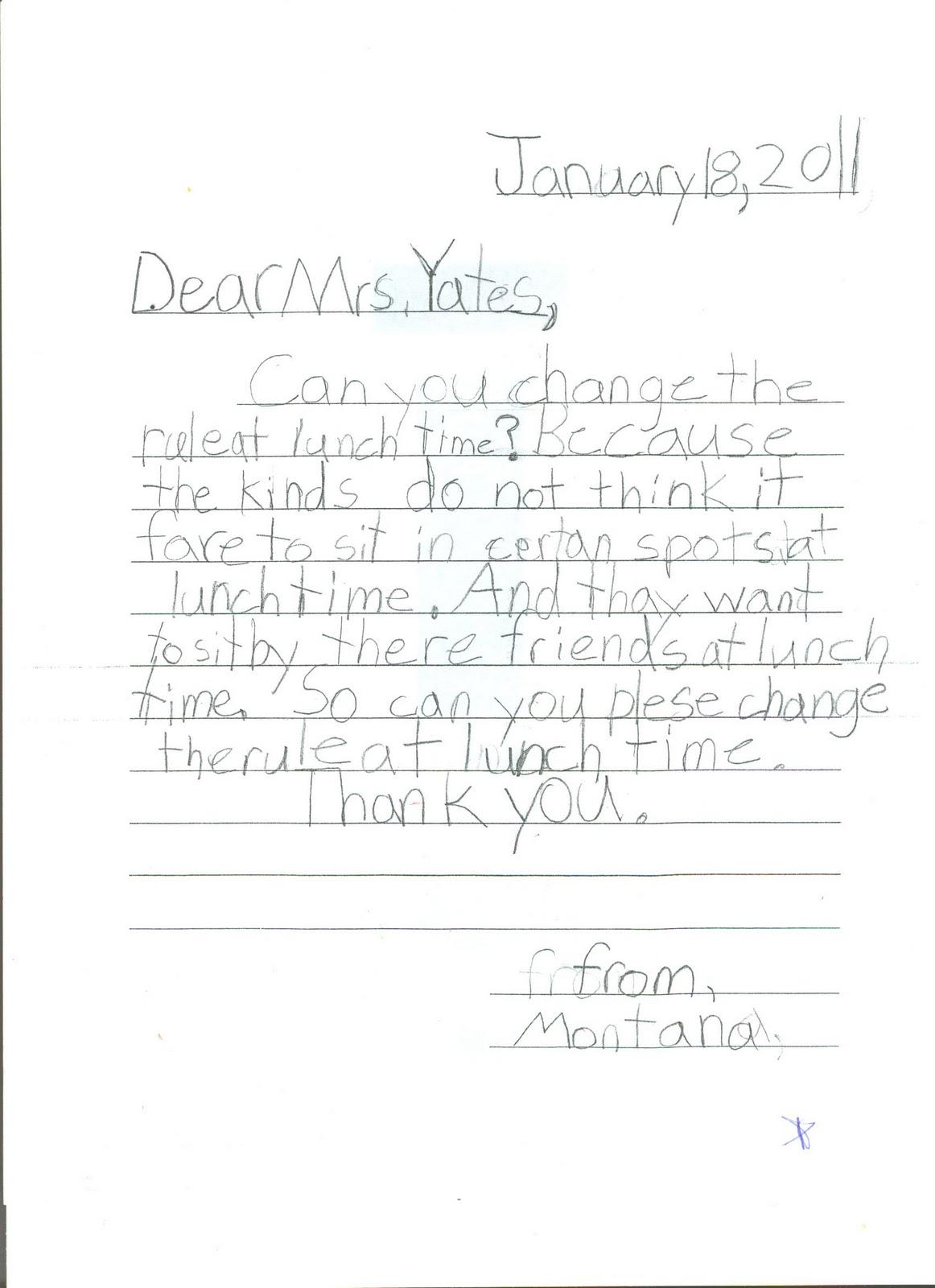 Persuasive Letter Template For Kids