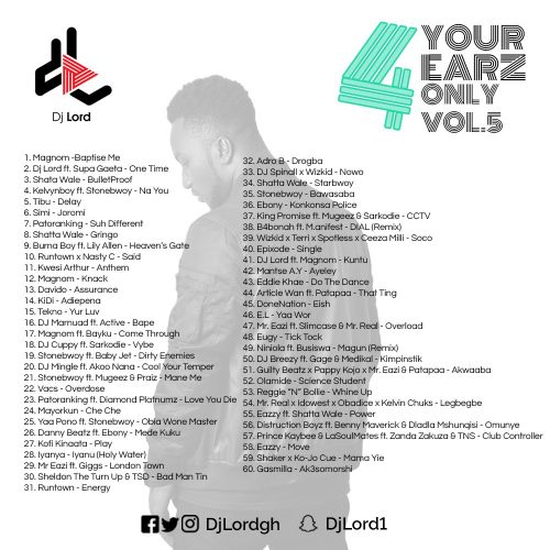 DJ Lord 4 Your Earz Only Vol. 5Cover 500x500 - DJ Lord - 4 Your Earz Only (Volume 5)