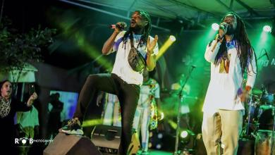 """Photo of Rocky Dawuni and Samini create """"In Ghana"""" remix live on stage at """"Beats Of Zion"""" Album Concert"""