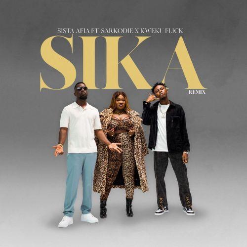 Sista Afia ft Kweku Flick Sarkodie Sika RemixProd by Apyawww dcleakers com  mp3 image 500x500 - Sista Afia - Sika (Remix) ft. Sarkodie & Kweku Flick
