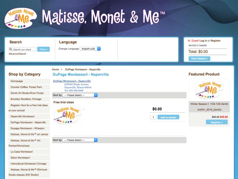 Art Class Website Design