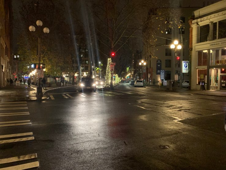 First Avenue in Seattle's Pioneer Square neighborhood